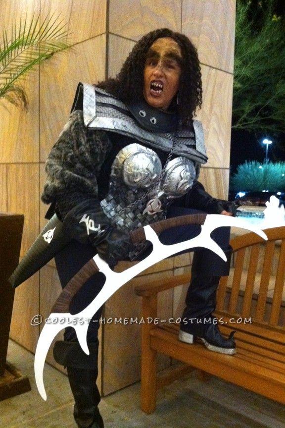 cool homemade star trek costume klingon warrior coolest halloween costume contest - Cool Homemade Stuff