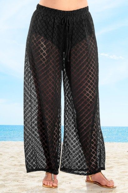 833d30a68f6 Sexy semi sheer fabric make these Plus Size Lattice Pants from Always For Me  perfect for fun in the sun!