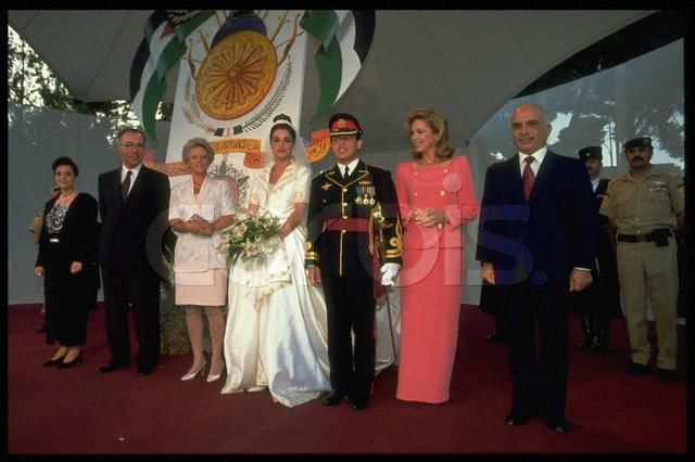 Queen Rania: that's her mother at the far left of the picture with her father