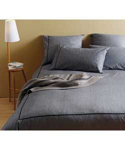 Buy Habitat Chambray Black Bedding Set - Double at Argos.co.uk - Your Online Shop for Duvet cover sets.