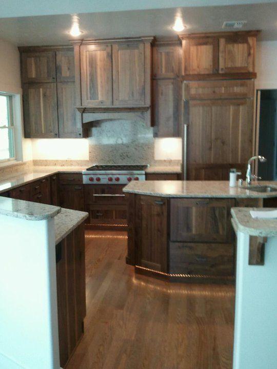 Rimrock Cabinets Knotty Walnut Rustic Kitchen Design