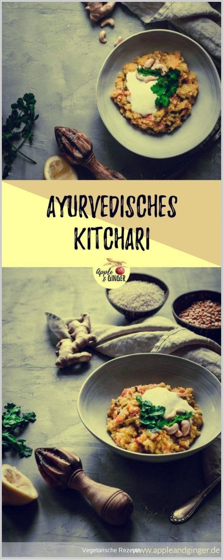 #vegetarischerezepte - Ein leckeres ayurvedisches Kitchari ist jetzt im Winter super lecker und hilft dir, den Winter gesund und fit zu überstehen!   #ayurveda #kitchari #khichari #ayurvedarezept #gesundkochen #kochen #vegetarisch #basmatireis #mungbohnen #mungdal #indischkoche