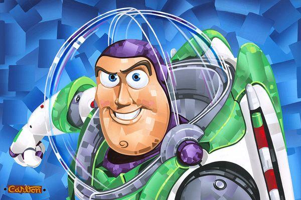Friendly Hero Buzz Lightyear Giclee on Canvas by Trevor Carlton