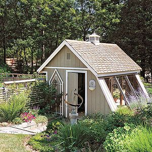 12 garden shed plans gardens for Bhg greenhouse