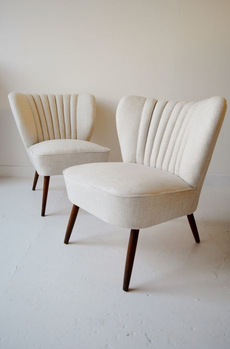 Superbe Pair Of 1950s French Cocktail Chairs From Osi Modern. #midcentury #chairs