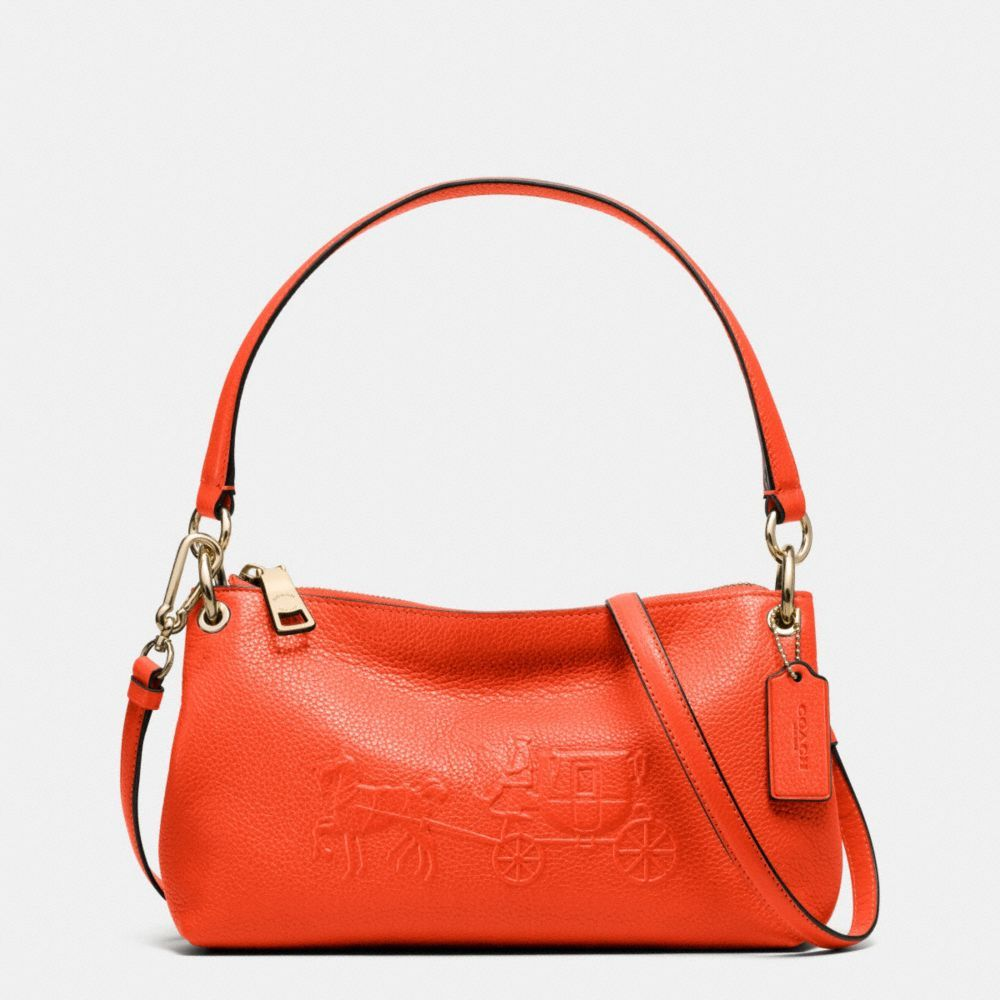 48c65b1c9f The Embossed Horse And Carriage Charley Crossbody In Pebble Leather from  Coach