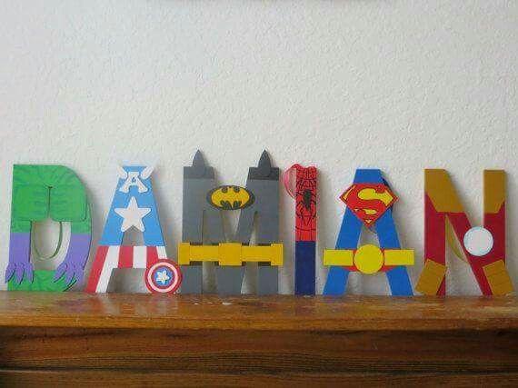 Letras Superheroes