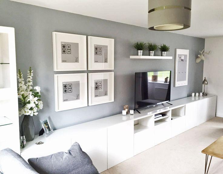 Fesselnd Wohnzimmer Modern Einrichten 59 Beispiele Für Modernes | Long Tv Stand, Ikea  Wall Units And Ikea Storage