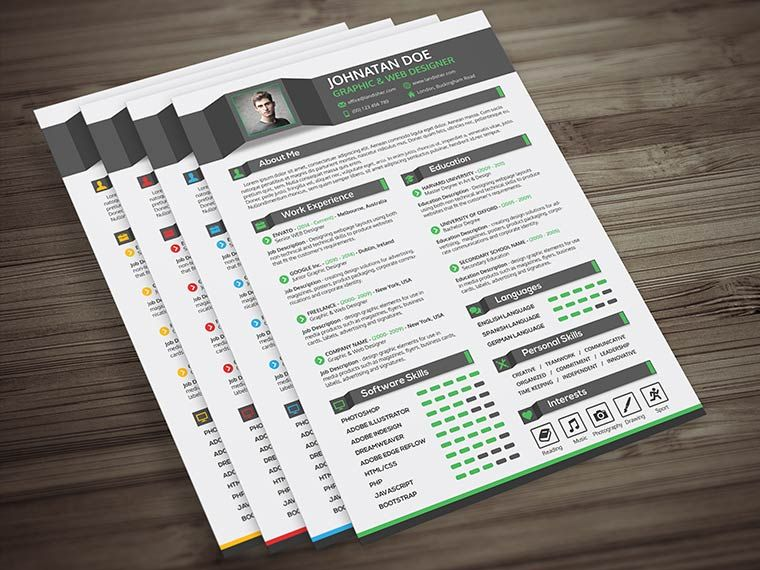 cv resume cover letter portfolio psd template this template is
