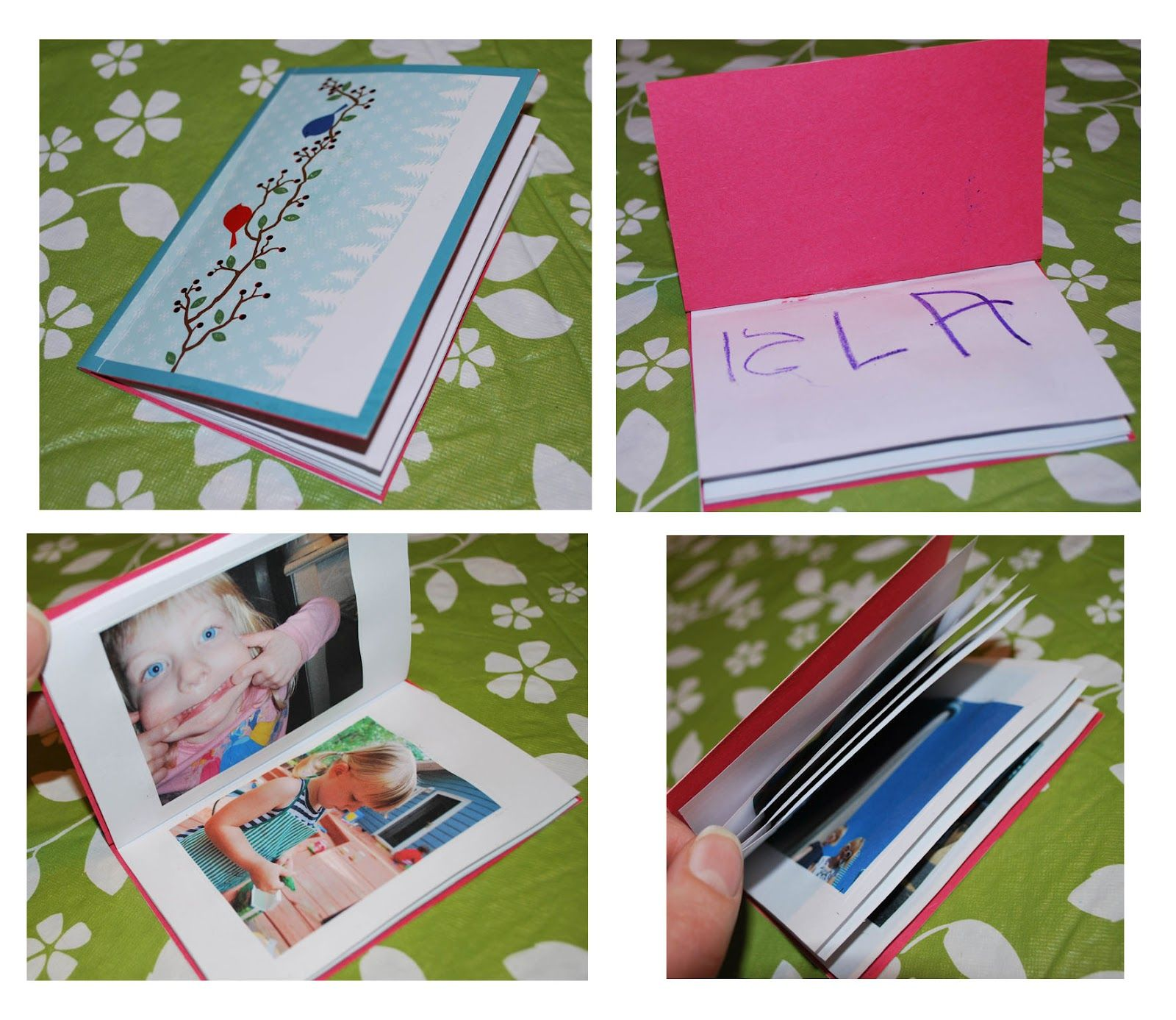 How to make a mini photo book from an old greeting card things how to make a mini photo book from an old greeting card kristyandbryce Images