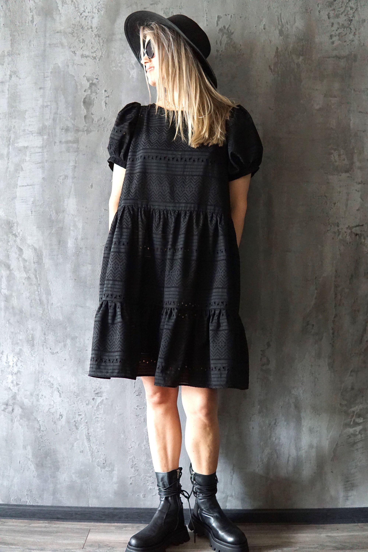 Black Crochet Dress Black Beach Dress Black Summer Dress Black Beach Dress Summer Black Dress Loose Black Dress [ 3000 x 2000 Pixel ]