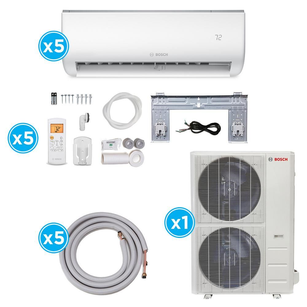 Bosch Climate 5000 Energy Star 48 000 Btu 5 Zone Ductless Mini