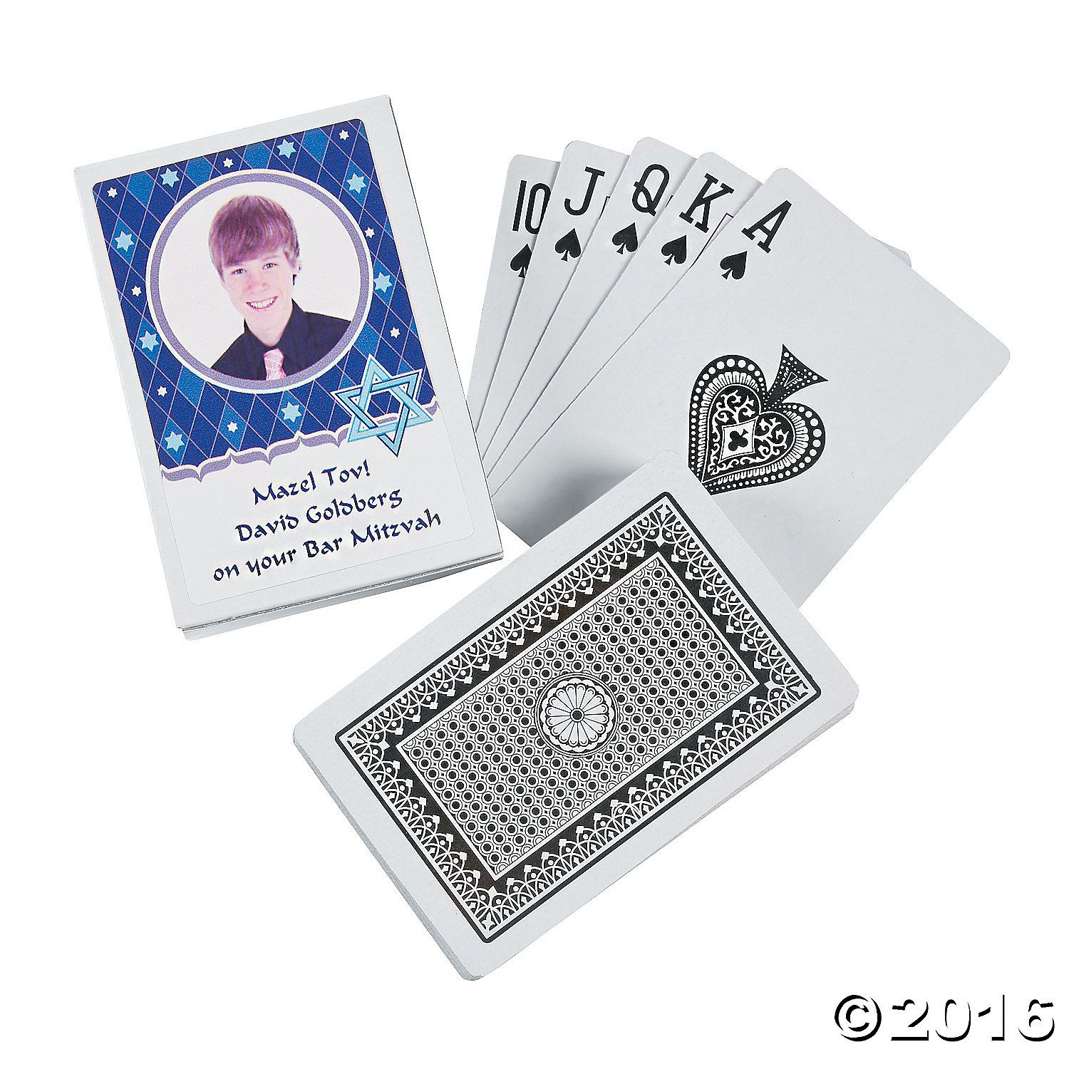 Bar Mitzvah Custom Photo Playing Cards - OrientalTrading.com