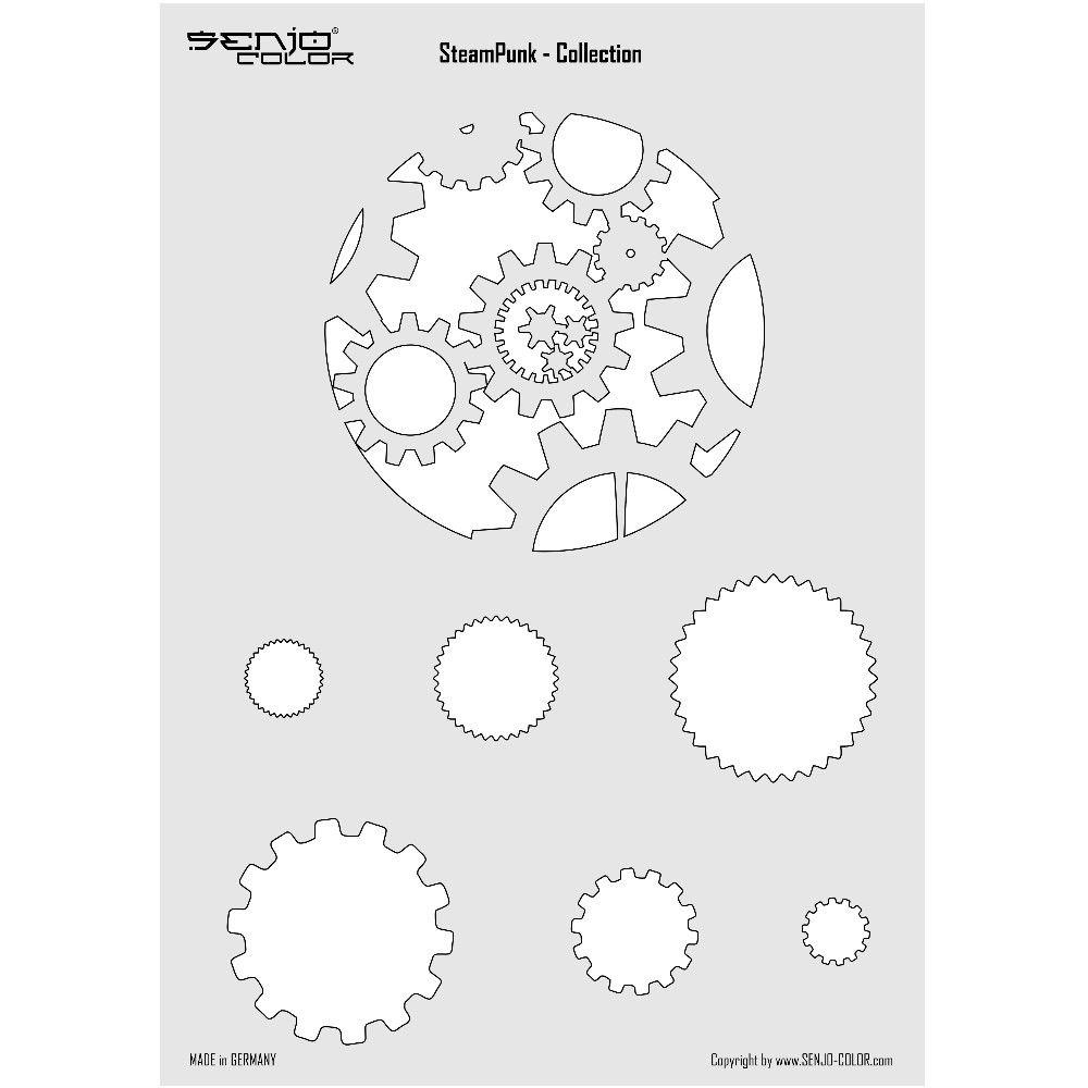 Steampunk Airbrush Schablone Zahnrad Design #steampunk #zahnrad ...