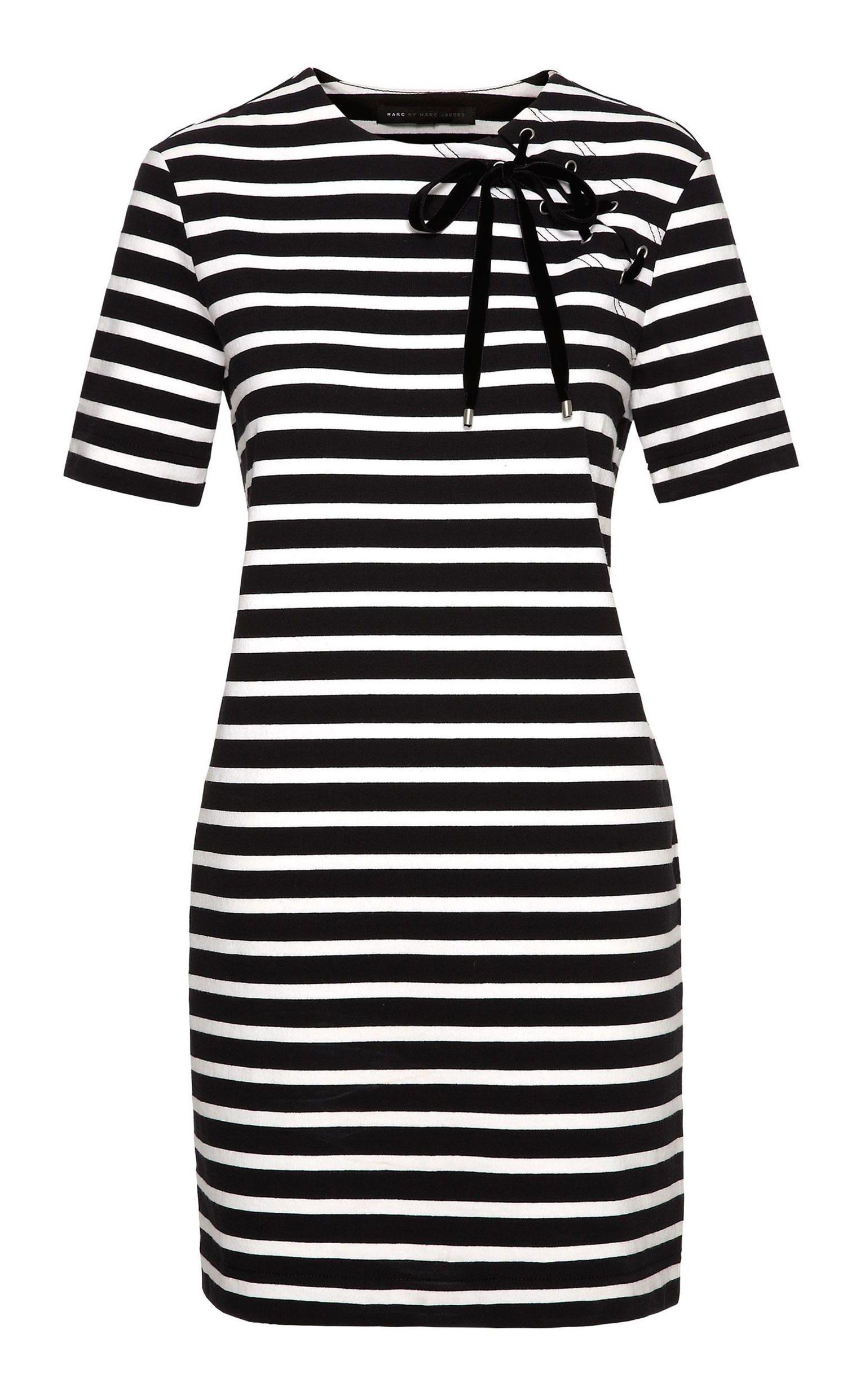 Marc by Marc Jacobs Jacquelyn Stripe Dress in Black Multi