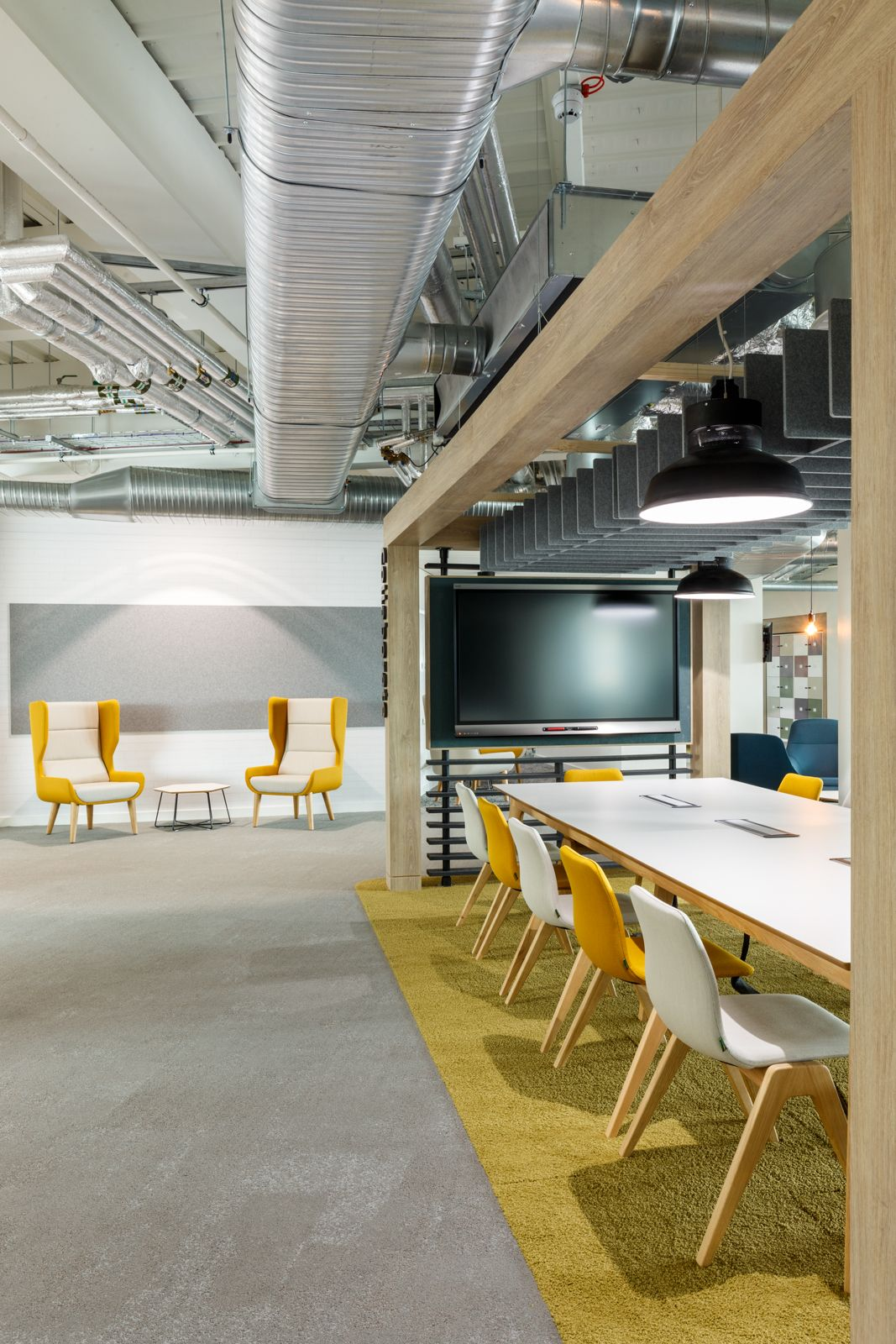 Collaborative meeting spaces collaboration zones for Commercial space design