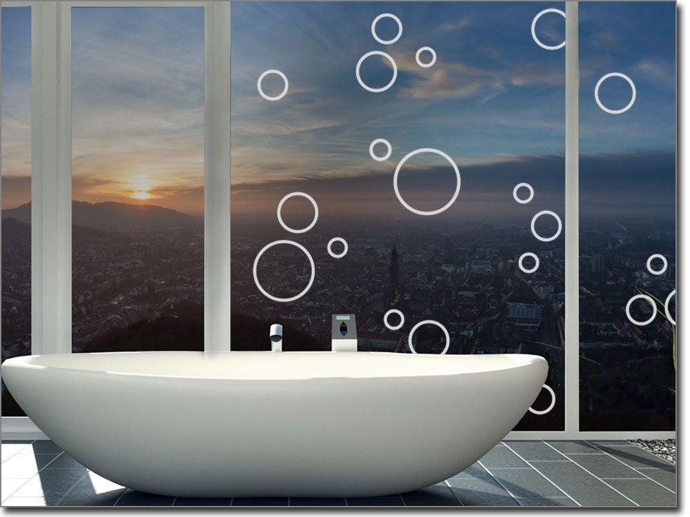 Milchglasfolie Badezimmer ~ Aufkleber aus milchglasfolie für das bad glastattoos mit motiven