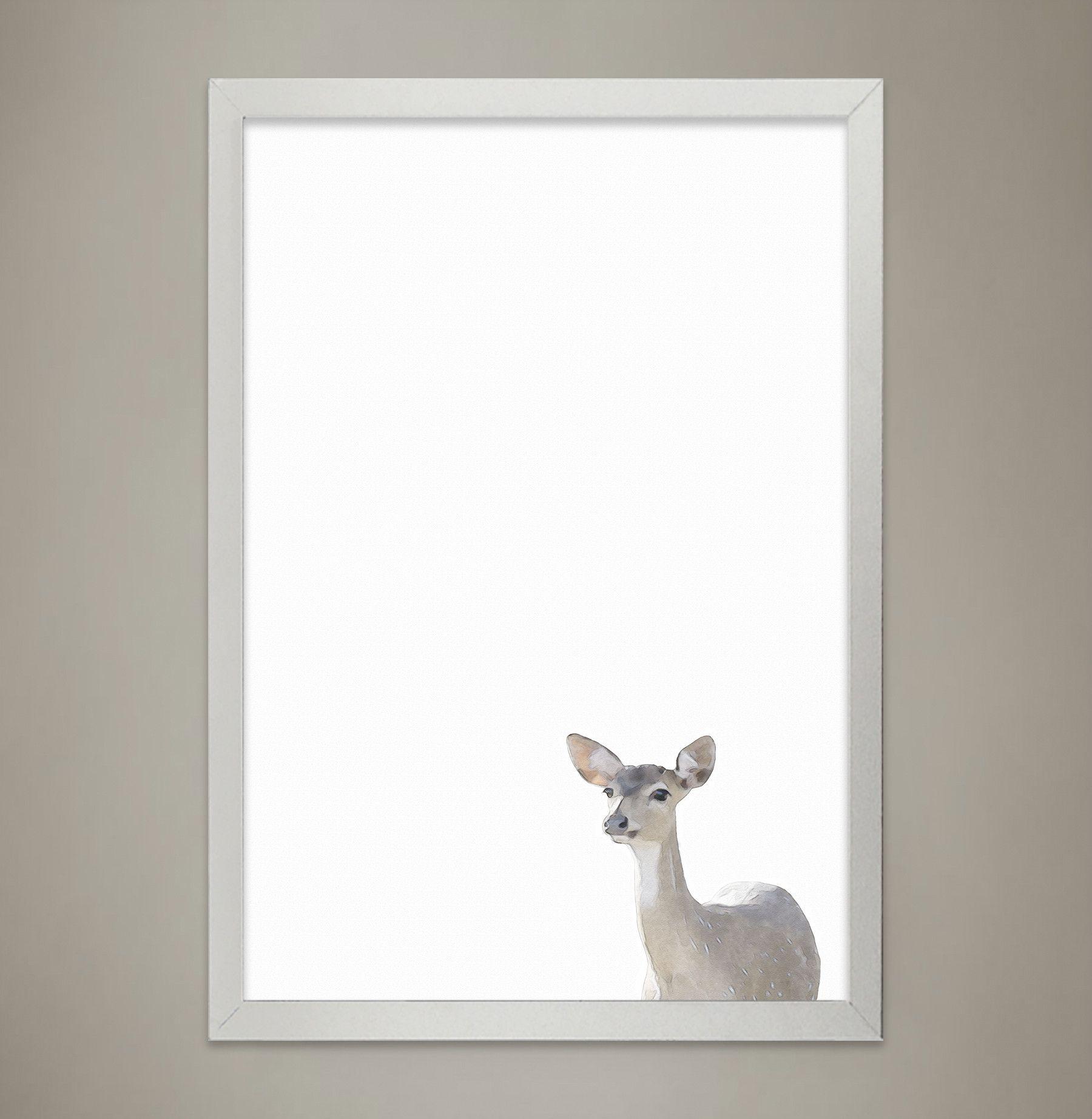 Baby deer animal print nursery wall decor wall art for childrenus