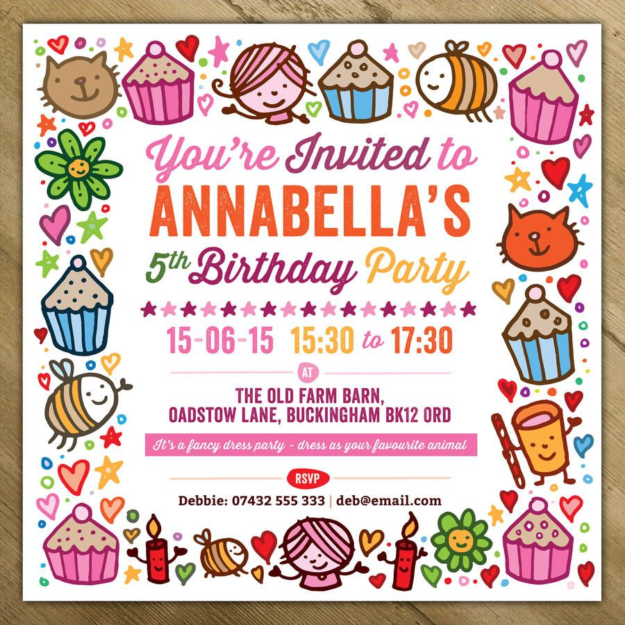 Childrens Party Invitations | Party invitations, Childrens parties ...
