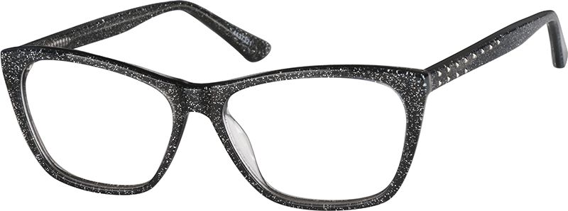 Zenni Women S Rectangle Prescription Eyeglasses Black Plastic