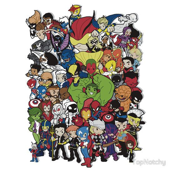 Lil Avengers Assemble! by TopNotchyThe Oragnai White tee of this from REDBUBBLE