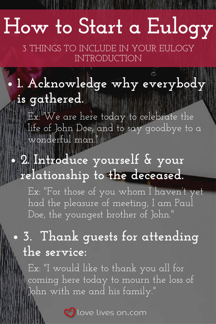 3 Things To Make Sure You Include In Your Eulogy Introduction Click For More Tips On How Write A