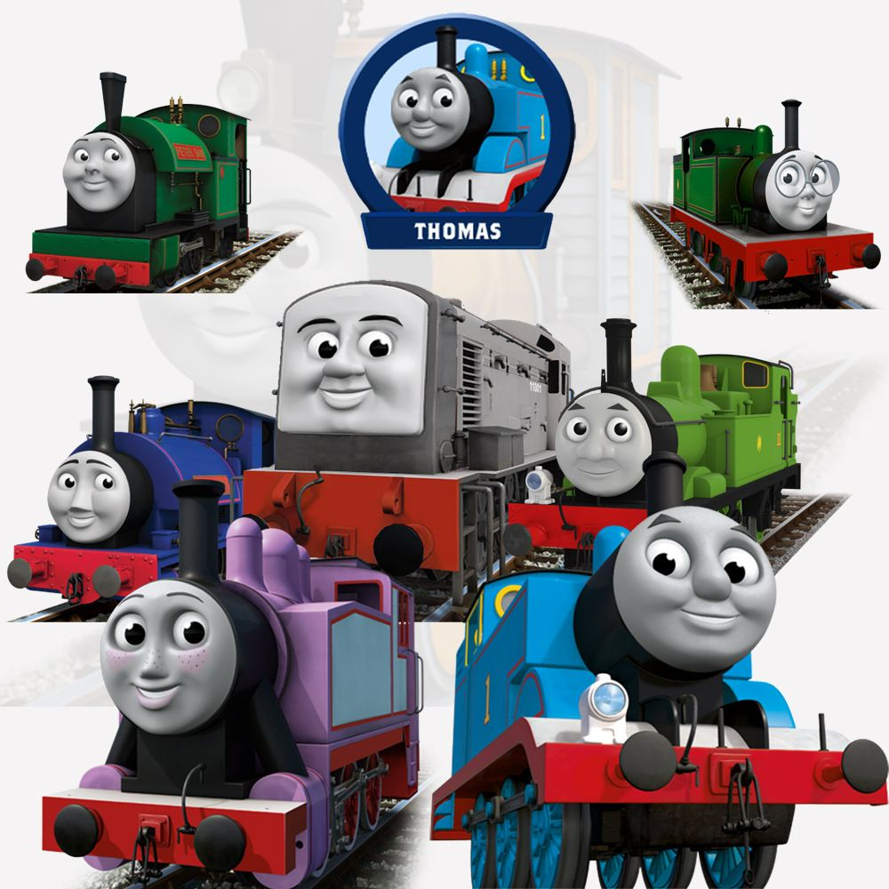 Thomas Train 3D wall stickers for kids rooms girls boy home decor ...