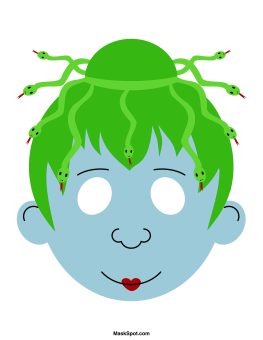 medusa mask templates including a coloring page version of the