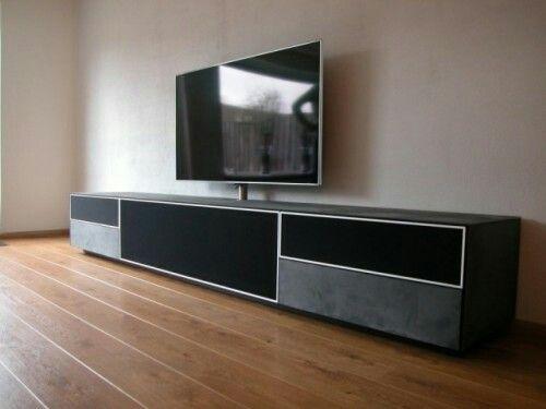 Glazen Meubels ~ Designkast tv meubel voor sonos xperia 300 in gestraald mat glas