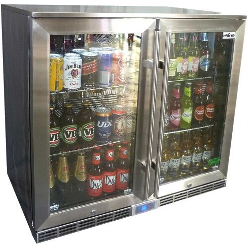Rhino 2 Door Outdoor Glass Door Alfresco Bar Refrigerator Energy Efficient And Ip Rated Outside Fridge Inside Bar Fridge Models Bar Fridges