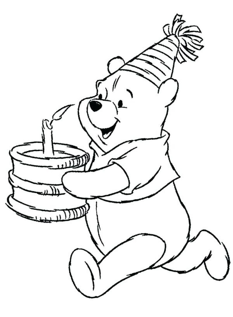 Cute Winnie The Pooh Coloring Pages Ideas For Children Bear Coloring Pages Birthday Coloring Pages Happy Birthday Coloring Pages