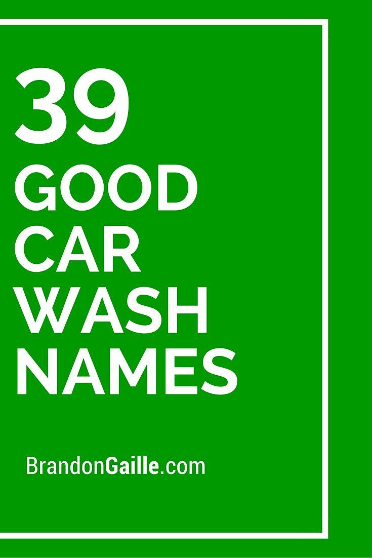 39 Good Car Wash Names