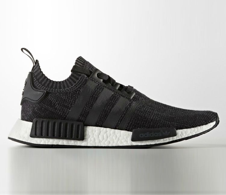 Adidas Nmd Wool Black White Blue Sneakers Sneakers Adidas Nmds