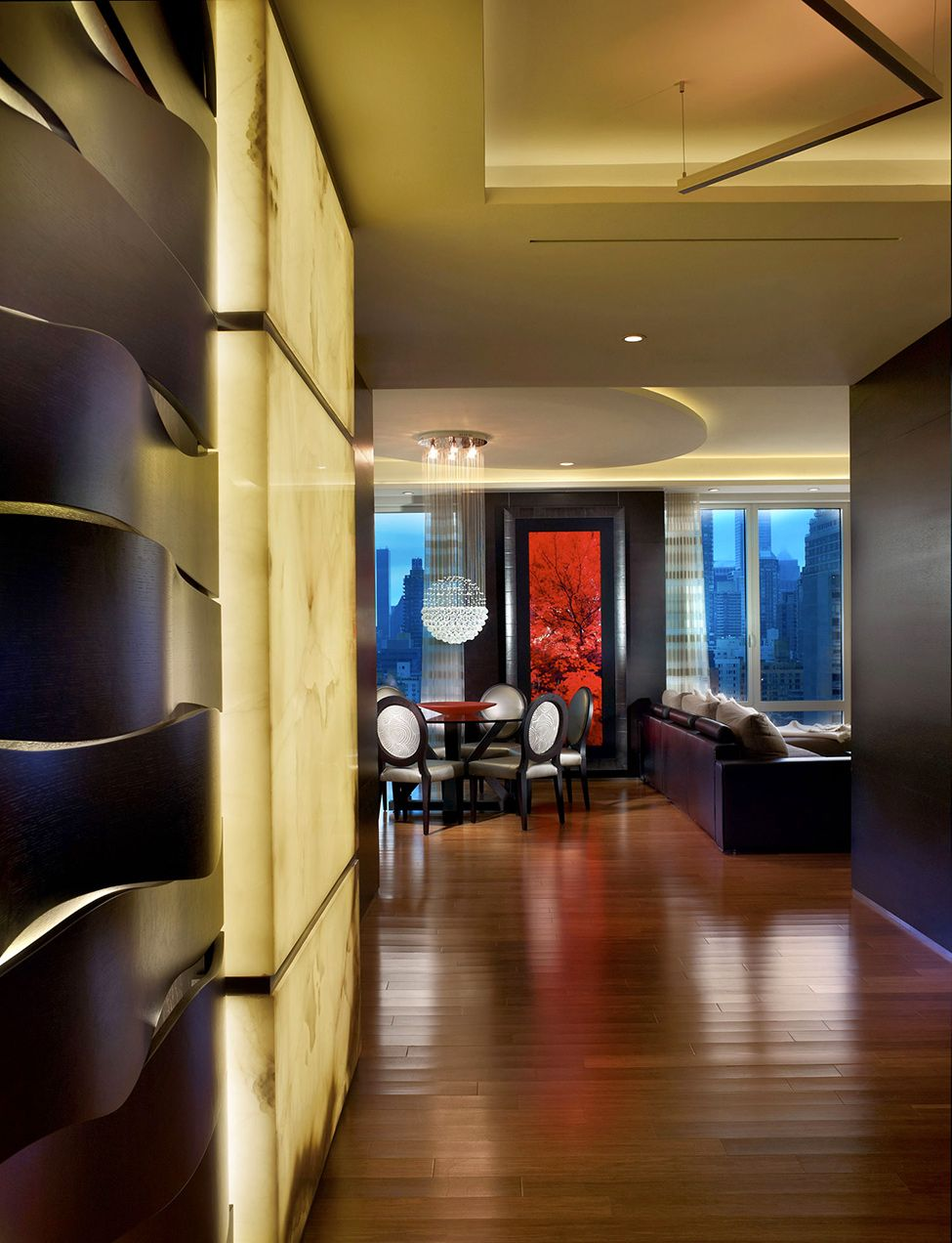 Chic interiors by pepe calderin design in new york penthouse