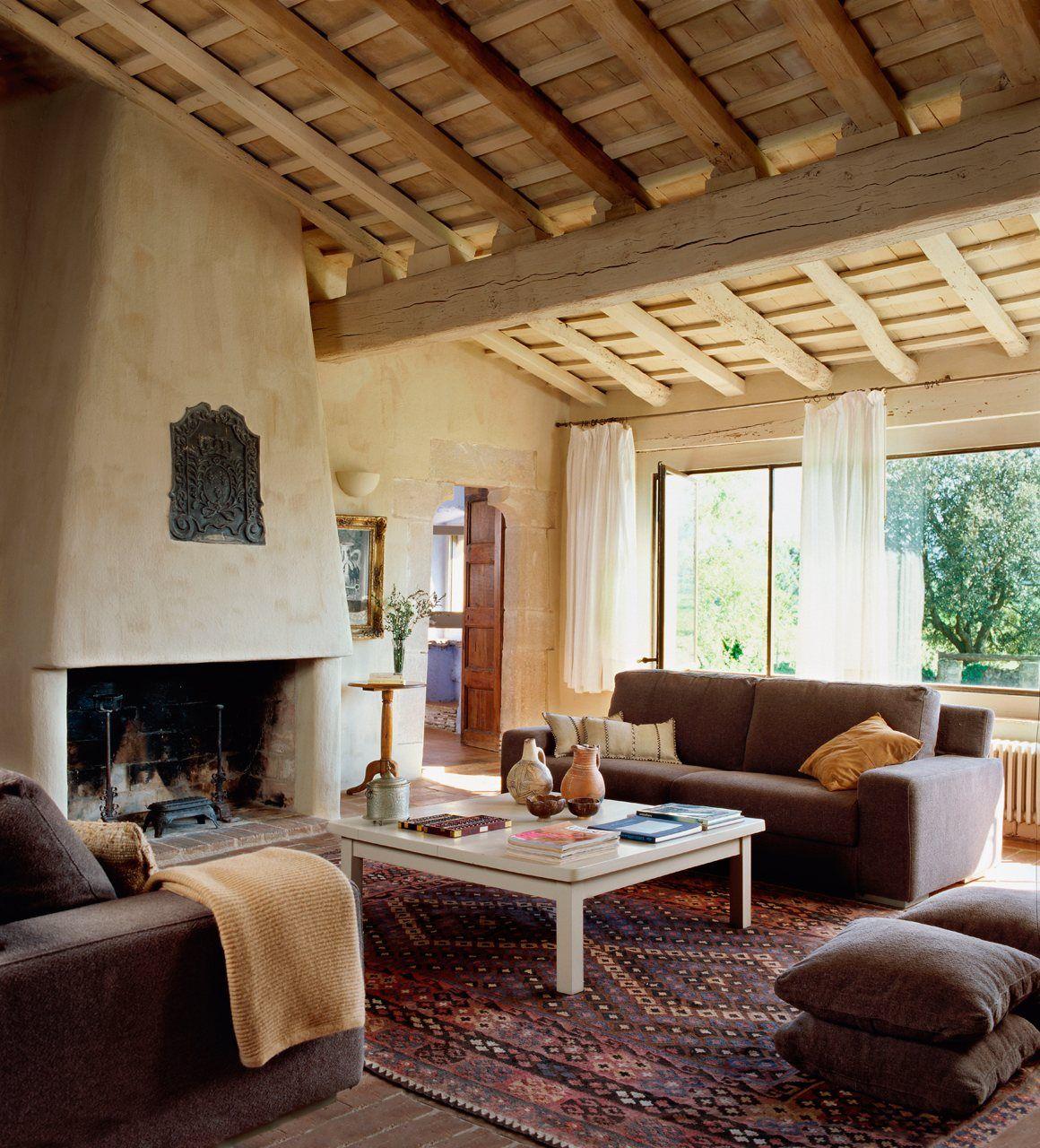 15 salones r sticos para disfrutar pinterest techos for Techos rusticos para galerias