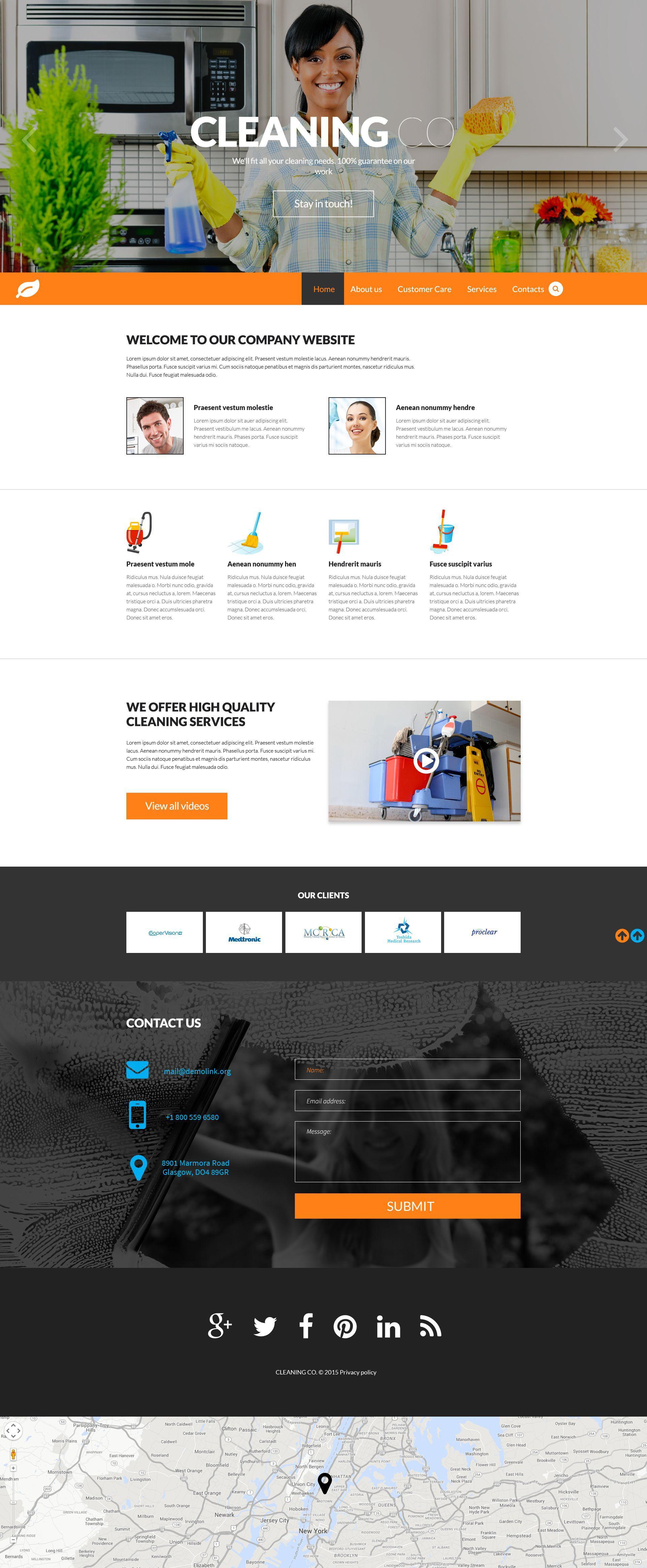 Cleaning Responsive Website Template 53151 Website