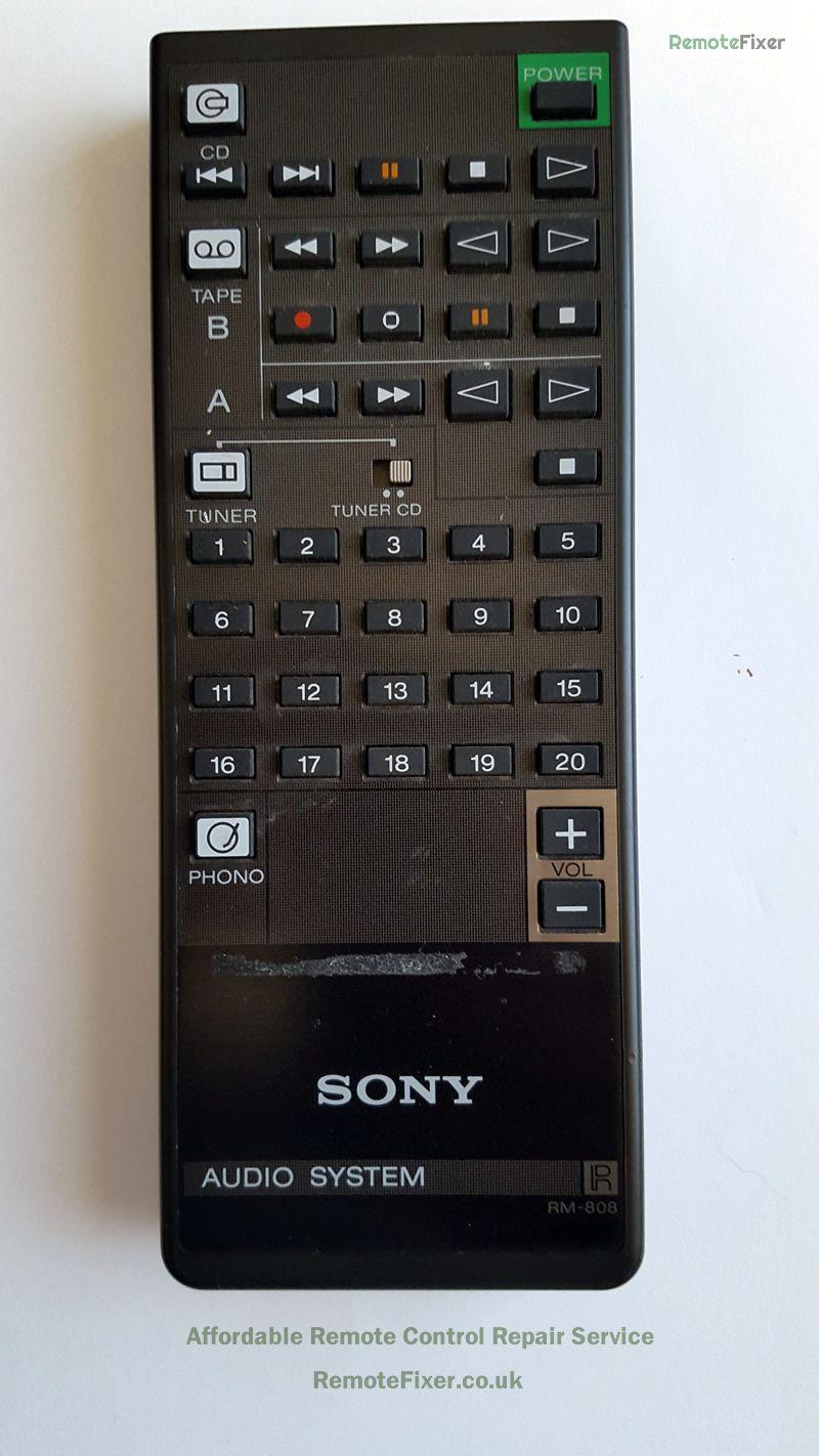 Sony RM808 Remote Control Repair in 2020 Remote control