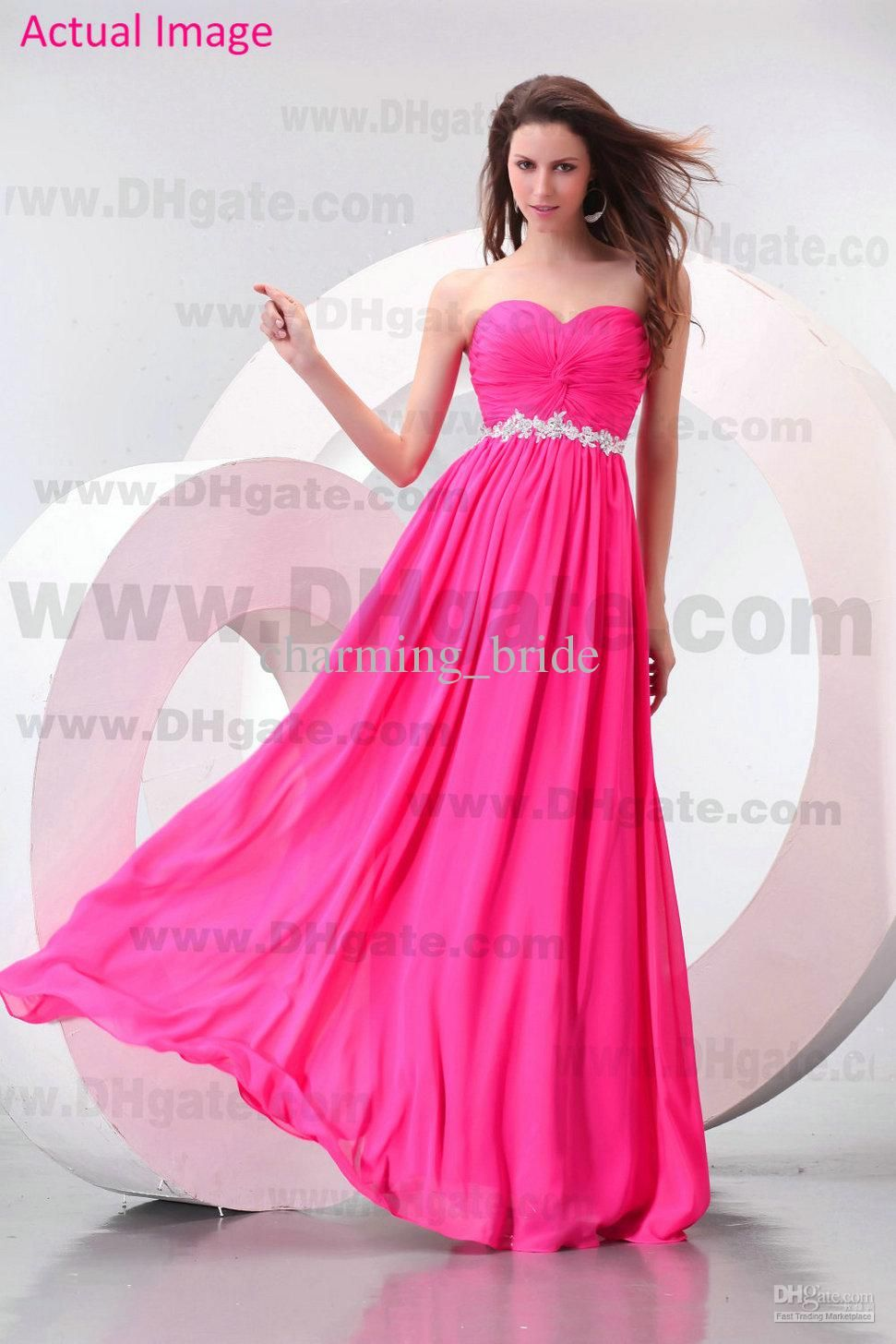 Hot Pink Bridesmaid Dress - Ocodea.com