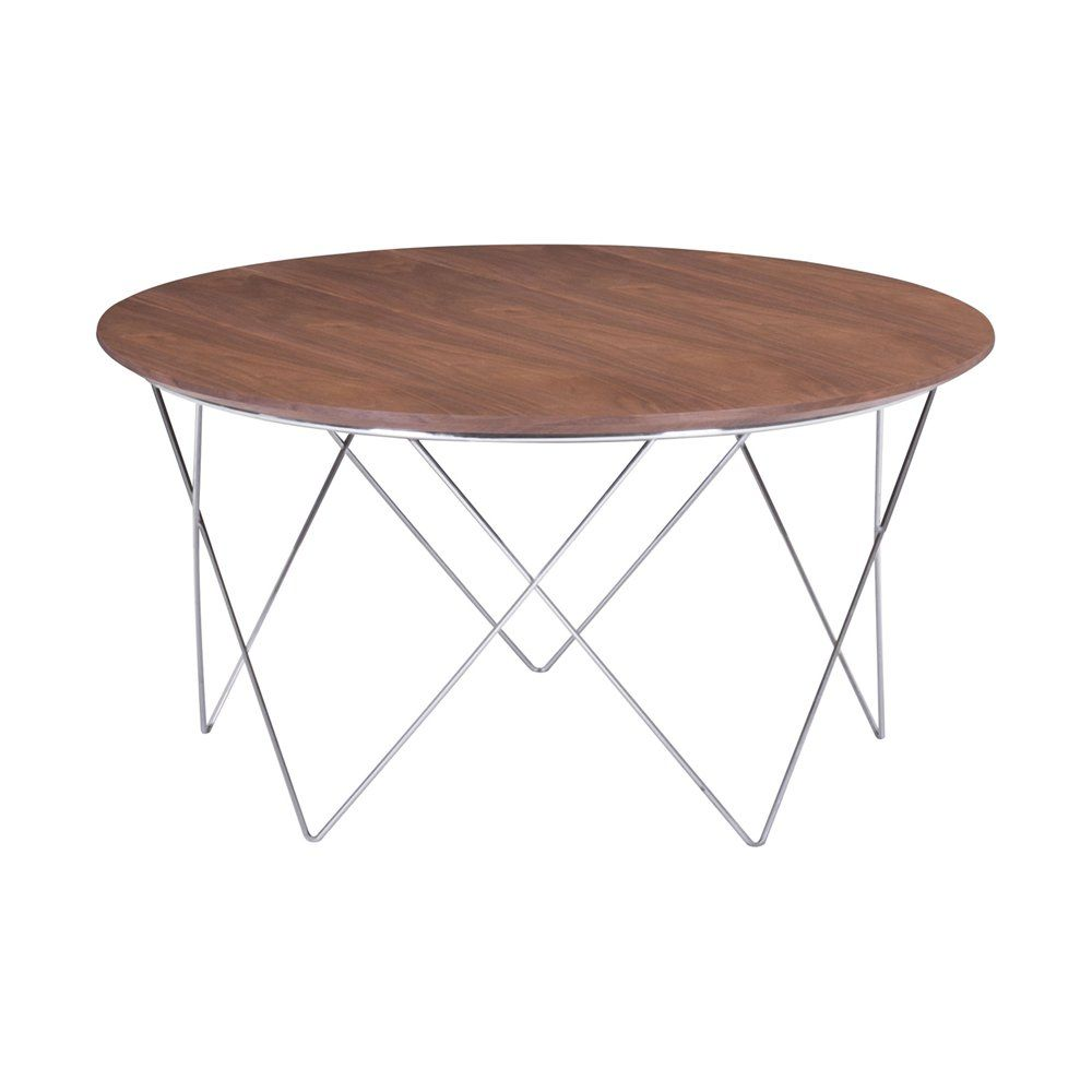 Zuo Modern 404070 Macho Modern Coffee Table Modern Coffee Tables Walnut Coffee Table Round Wood Coffee Table [ 1000 x 1000 Pixel ]