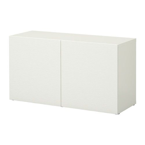 Witte Ladekast Ikea.Besta Open Kast M Deuren Laxviken Wit 120 X 40 X 64 Cm Interieur