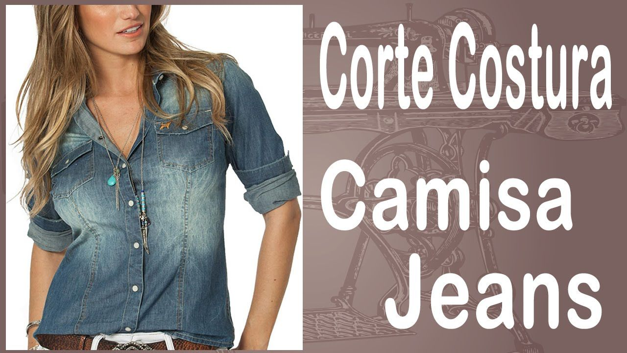 Curso Corte e Costura passo-a-passo Camisa Jeans - Super Fácil