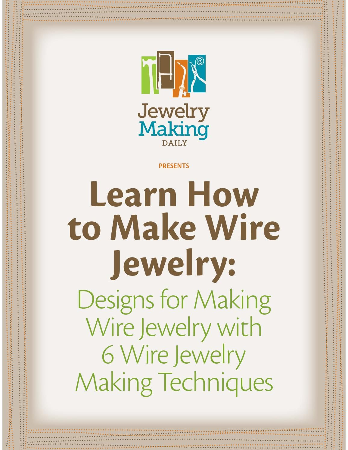 Wire jewelry free ebook | Drahtschmuck