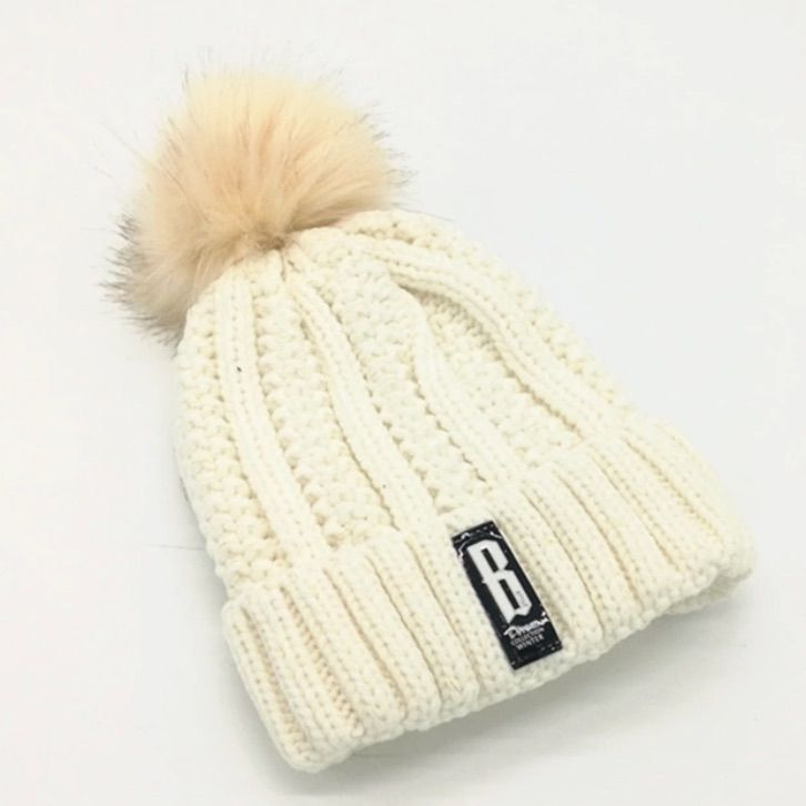 c99a46841ad Pompom Winter Hat - Off White Color