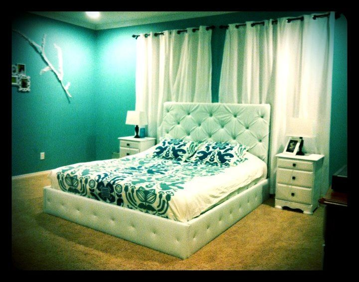 How to make a White Leather DIY Tufted Headboard - 1 | Bedroom ideas ...