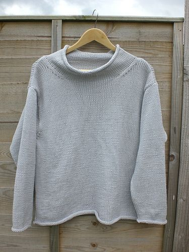 Pattern is written for a plain or striped pullover, with a ...