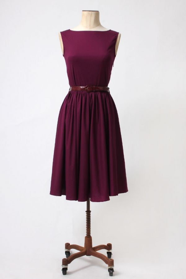 4f4e455940e The Aubergine 1950 s Audrey Hepburn Swing Dress by Lindy Bop - Dresses -  Clothing