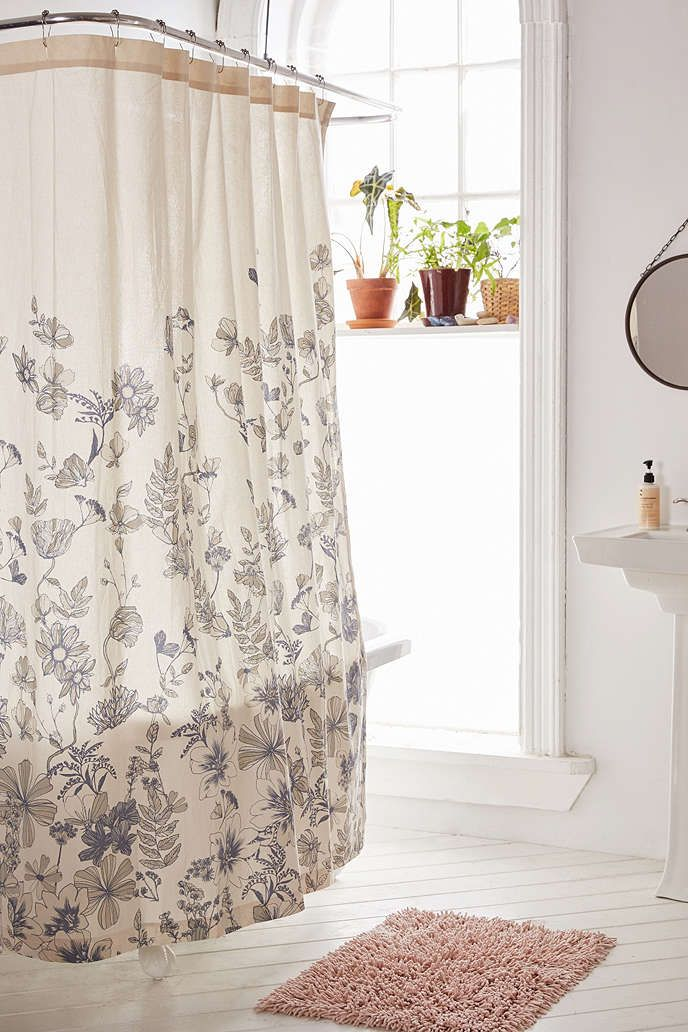 plum u0026 bow scattered flowers shower curtain urban outfitters