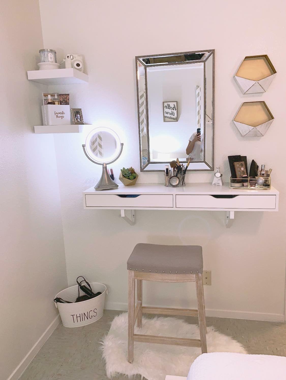 Ikea Ekby Shelf Hobby Lobby Ross Makeup Vanity Bathroom With Makeup Vanity Bedroom Makeup Vanity Vanity Shelves