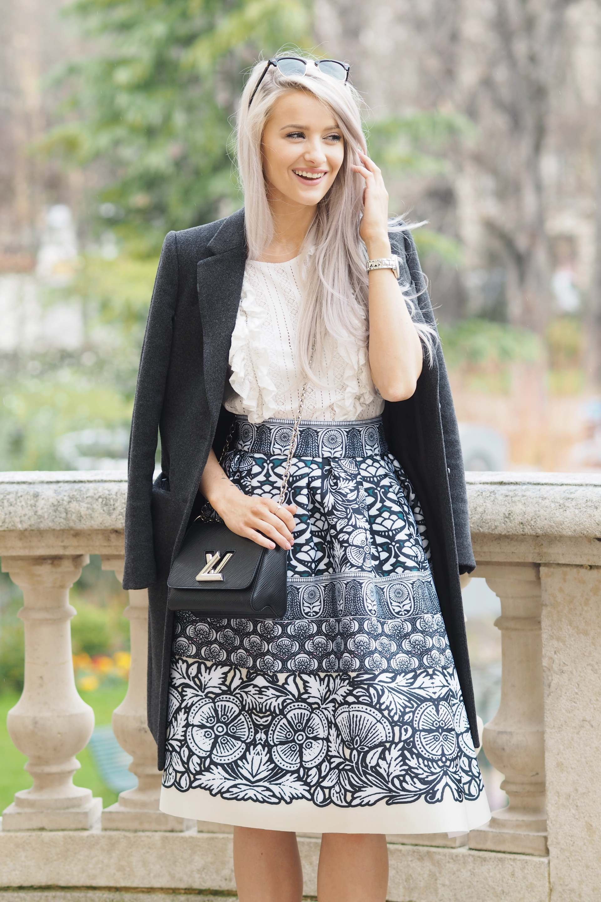 d9f4a9c08f89 inthefrow paris fashion week in maje and louis vuitton and gianvito rossi  caged ankle heels