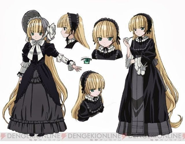 The anime character victorique de blois is a teen with past waist length blonde yellow hair and green eyes